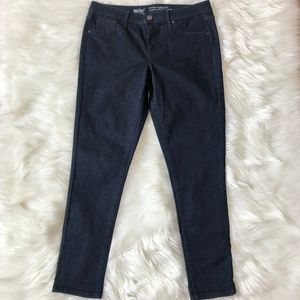 MOSSIMO Dark Wash Denim Mid Rise Jegging Crop 8 29